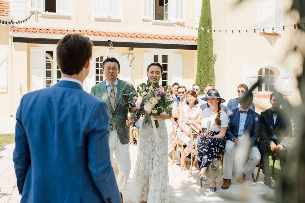 wedding day in french riviera